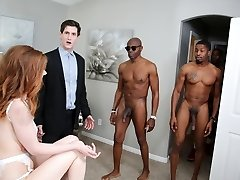 Pepper Hart Interracial Anal Gang-bang - Cuckold Sessions