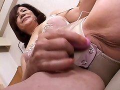 masturbating asian gran part1