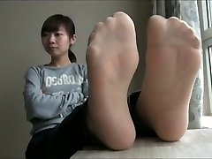 chinese nylon and bare feet n soles