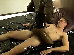 GERMAN LATEX Dominatrix IN ROUGH ANAL Screw AND CREAMPIE IN ASS