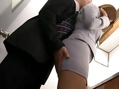 Haruki Sato gets pummeled in her hubby�s office