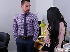 Ultra-kinky boss Johnny Castle smashes adorable young assistant Brenna Sparks