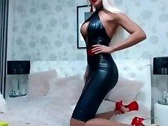 Super Hot girl in Latex dress and killer high stilettos