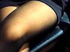 more nylon leg touching