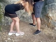 Boinking my stepsister outdoors and cumming on her pussy