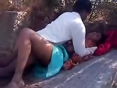 Adorable sex bhabi gets crammed strongly outdoors