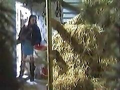 Girl covert Masturbating In A Barn