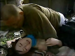 Japanese enjoy story with this lil teen nailed by older guy