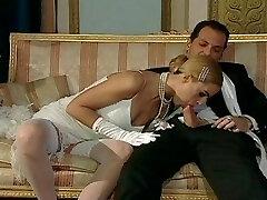 Italian blond diva has glamorous fuck-fest