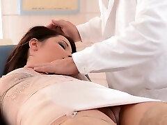 Horny doctor punishes lovely stunner Lana