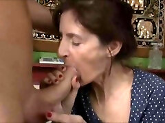 Ugly granny get plumbed