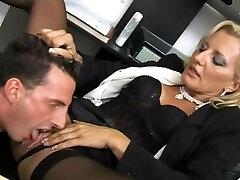 Glorious slut fucked at her office