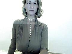 Sumptuous Blonde Striptease on my webcam
