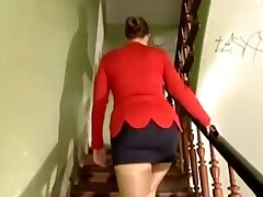Busty German chick gangbanged for paints