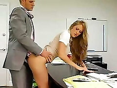 Busty secretary gets bent over and fucked by her mischievous boss