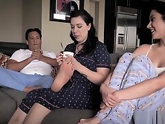Foster nubile have hardcore sex with her foster stepdad