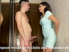Best sex of a stepmom and stepson while her husband earns money on a business excursion