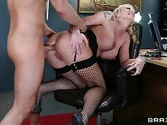 Compliant blonde secretary is dominated by her recent manager