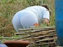 Spying Mom Butt - Plump Plumper Granny - Mature Ass Bootie