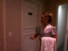 bi-racial couple bang hotel maid