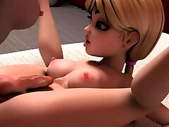 Big tits futa babes penetrating and cumming hard
