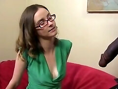 Cute and thin brown-haired with a BBC