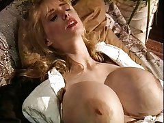 Vintage big tits red stockings blonde grinding