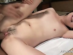 Amateur asian cock suckers have cum on face