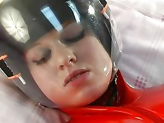 rubber luge girl