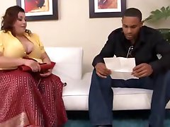 bbw mother with black
