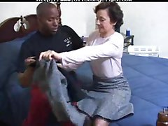 Lady Marie penetrated by black cock