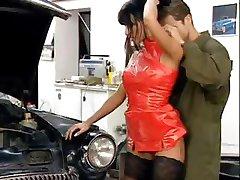 Anita Blonde in her hot lingerie sucks and fucks a hard cock