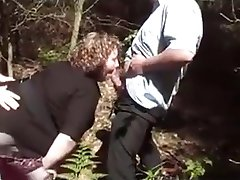 Outdoor cumface threesome