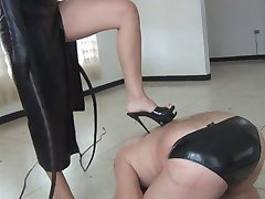 naked slave whipped by stunning mistress
