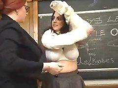 Big tit school fun