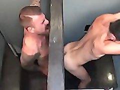 Großen Schwanz Gloryhole mit Rocco Steele