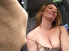 Guys gangbang hot chicks in parked car