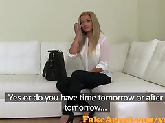 FakeAgent Stunning blonde with big tits takes Creampie in Casting!
