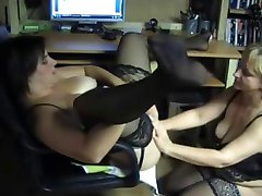 Mature lesbians from Europe. Anal fisting