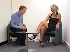 Office Stockings Foot Domme