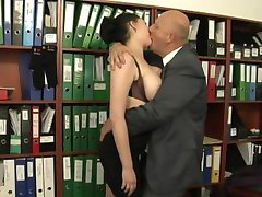 Secretary fucked by her much older boss