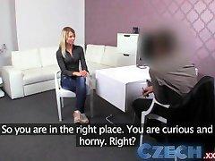 Tšehhi Blondiin võtab kaks dicks Casting intervjuu