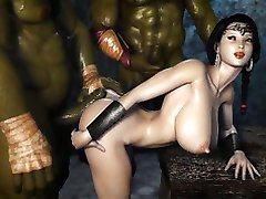 بد Ogres یک 3D شاهزاده خانم!
