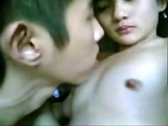 Chinese College Teens Having Fun