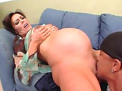 Nancy Vee - noseča interracial analni