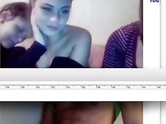 webcam three women watching