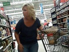 Sexy Blonde Milf in Walmart