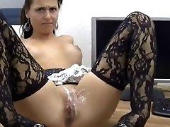 Sexy mergina Gauna Analinis Ir Pūlingas, Kuriems Jizz !