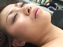 Sexy japanese Miss Aizawa massage,toyed,and threesome