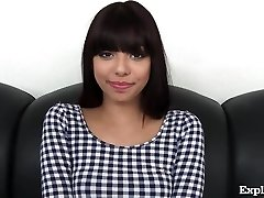 Ultra-cute 18 Yr Old Latina On Casting Couch!